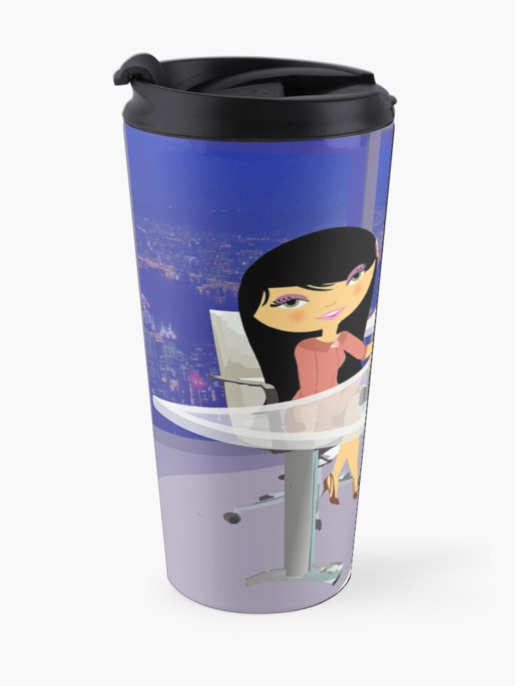 Alternate view of TropoGirl - Chinese country girl - Success Travel Mug
