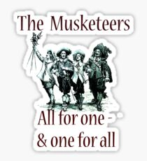 The Three Musketeers Stickers Redbubble