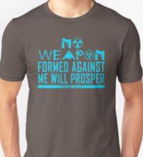 No Weapon Shall Prosper (Ice Blue) Unisex T-Shirt