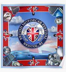 British Motorcar Festival Scarf Poster