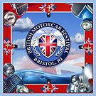 British Motorcar Festival Scarf by Susana Weber