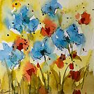Flowers (watercolor) by Ellen van Deelen