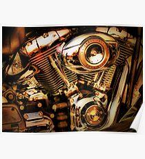 Harley Davidson Engine Poster