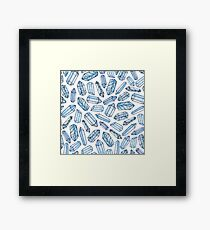 Watercolor Crystals Pattern  Framed Print