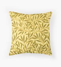 William Morris Willow, Mustard Yellow Throw Pillow