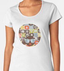 Robots on buttons Women's Premium T-Shirt