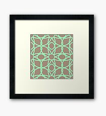 Minty Brown Wire Flowers Framed Print
