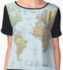 Map Chiffon Top