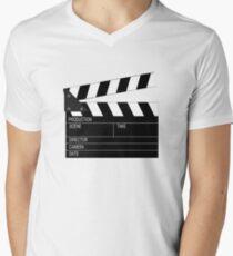Camiseta de cuello en V Claqueta