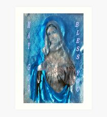 May God Bless You Art Print