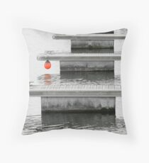 BoardWalks 579 And Red Ball Throw Pillow