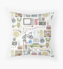STRANGER THINGS object illustration barb glasses quote eggs 011 upside down demogorgon eleven Throw Pillow