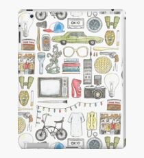 Vinilo o funda para iPad Cosas EXTRAÑAS Objeto ilustración gafas de barbilla citar huevos 011 boca abajo demogorgon once