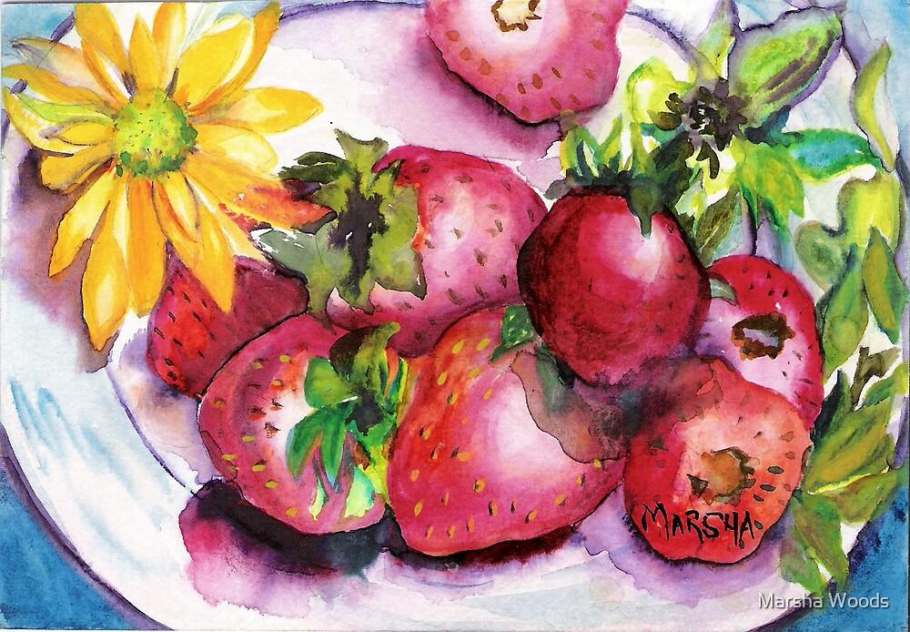 Strawberry Treat by Marsha Woods