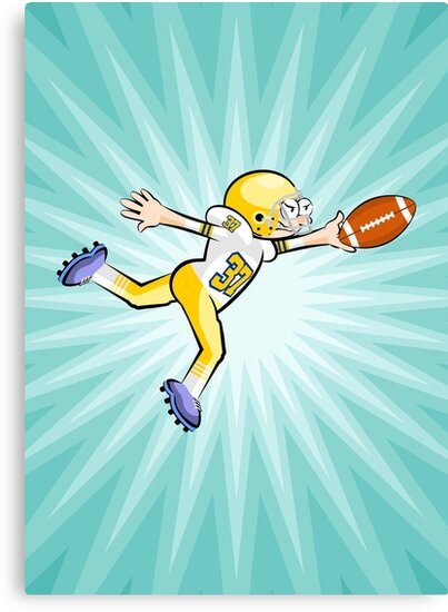 American football player stays with the ball by MegaSitioDesign
