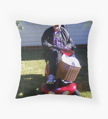 Maximus's Wheels Throw Pillow