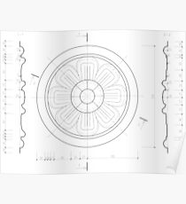Small architectural rosette Poster