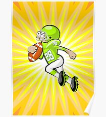 American football player winning yards Poster