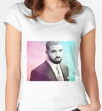 Drake Merchandise - Suited Picture  Women's Fitted Scoop T-Shirt