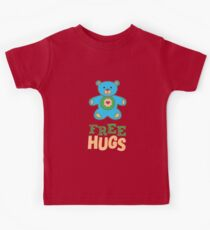 Free Hugs Blue Teddy Bear  Kids Clothes