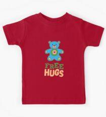 Free Hugs Blue Teddy Bear  Kids Tee