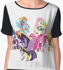 my little pony pirate ponies Women's Chiffon Top