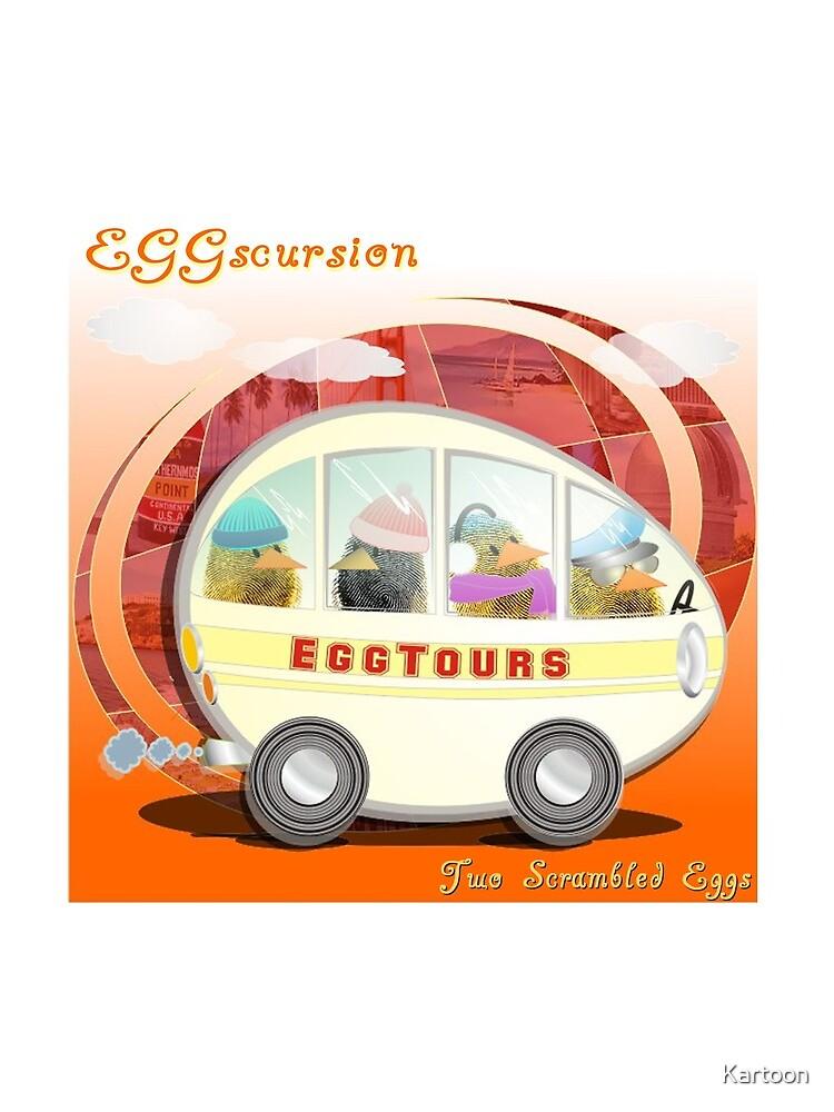 Two Scrambled Eggs - EGGscursion by Kartoon