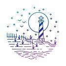Calm Beach - Cape Hatteras Lighthouse, North Carolina by AlexGDavis