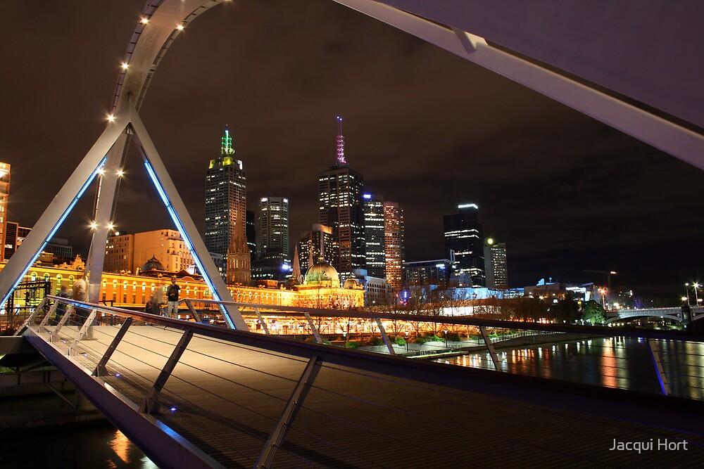 Footbridge along Southbank by Jacqui Hort