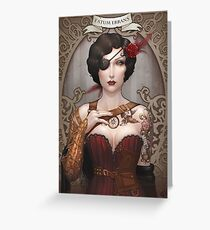 Macarena Steampunk Greeting Card