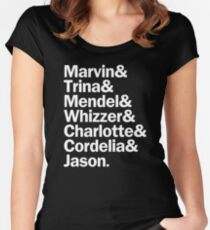 All Falsettos Characters | White Women's Fitted Scoop T-Shirt