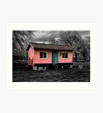 Pink Hut Art Print
