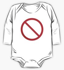 Not Allowed Sign Blank One Piece - Long Sleeve