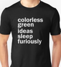Colorless Green Ideas Sleep Furiously | Black | Linguistics T-Shirt