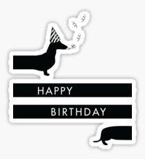 Dachshund Happy Birthday design Sticker