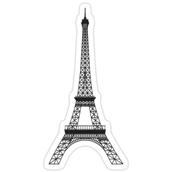 Quot Black And White Eiffel Tower Quot Stickers By Pencreations
