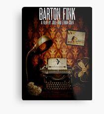 Coen Brothers Classic Film Barton Fink Metal Print