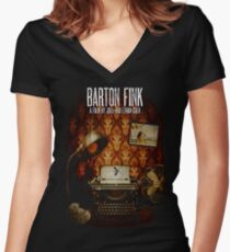 Coen Brothers Classic Film Barton Fink Women's Fitted V-Neck T-Shirt