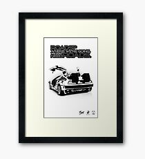 Delorean Vector Framed Print