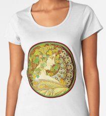 Ivy (1901) by Mucha  Women's Premium T-Shirt