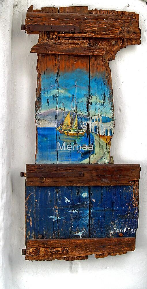 Wood Art in Mykonos, Greece by Memaa