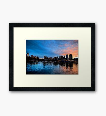 Blue Fire - Lavender Bay - Moods Of A CIty - The HDR Series Framed Print