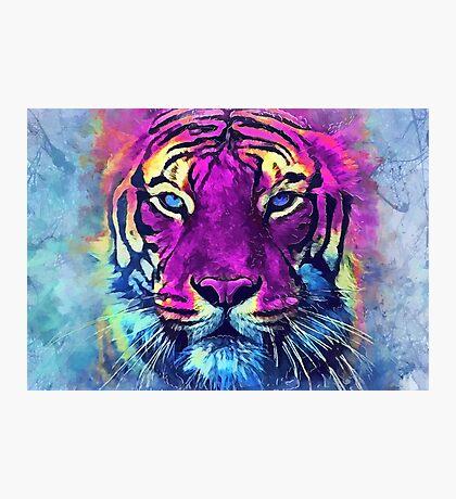 tiger purple spirit #tiger  Photographic Print