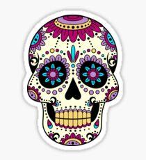 Mexican Skull Sombrero Art TatooMan Calavera el dia de los muertos Sticker