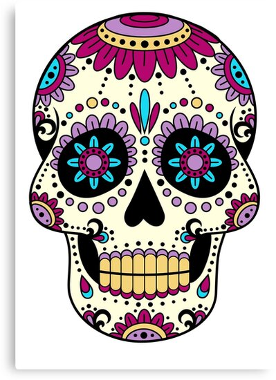 cr ne mexicain sombrero art tatooman calavera el dia de los muertos impressions sur toile. Black Bedroom Furniture Sets. Home Design Ideas
