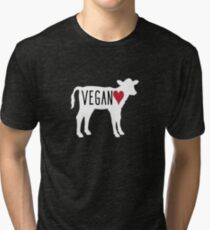 Vegan Cow Heart Tri-blend T-Shirt