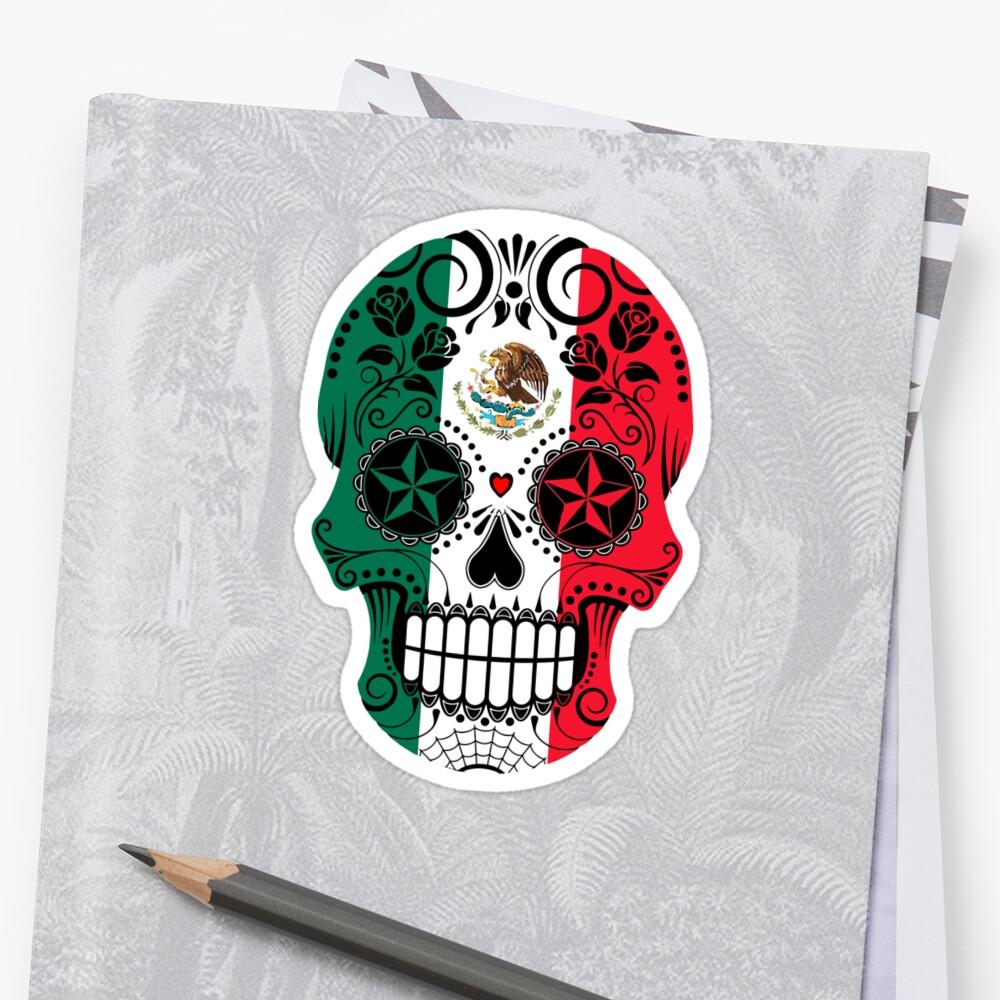 Crâne mexicain Coeur Art TatooMan Calavera el dia de los muertos ... a49569fe18b