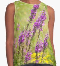 field of lavender flowers Contrast Tank