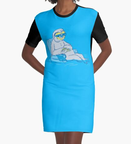 Sloth Graphic T-Shirt Dress