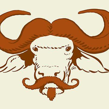 Buffalo Mustache (Ginger) by Trulyfunky